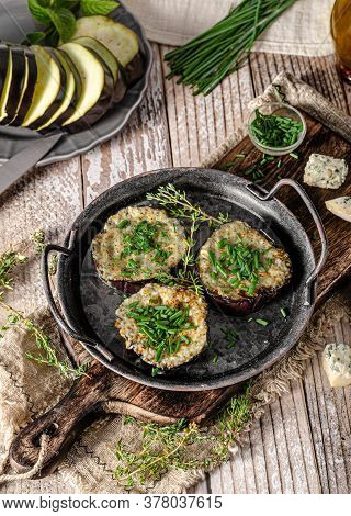 Delicious Eggplant Baked With Cheese