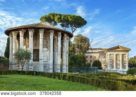 The Temple Of Hercules Victor (hercules The Winner) Is An Ancient Edifice Located In The Area Of The