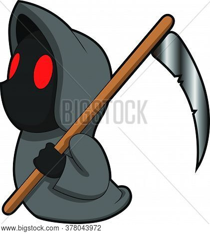 Death Cartoon Mascot Character