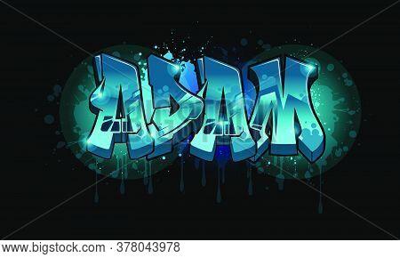 Adam Graffiti Name Design