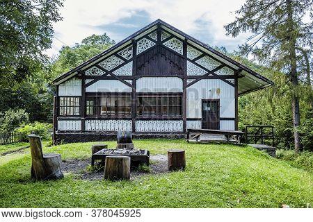 Cottage Under The Castle, Muran Plain, Slovak Republic, Central Europe. Travel Destination. Architec