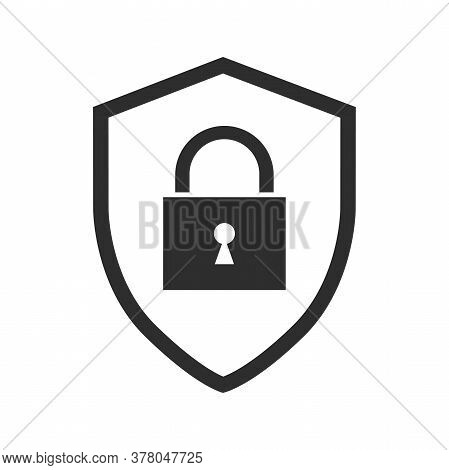 Security Vector Icon Isolated On White Background. Shield Security Icon. Lock Security Icon.