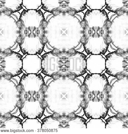 Portuguese Decorative Tiles. Ornate Flower Islamic Decor. Halftone Geo Nouveau Ornament. Portuguese