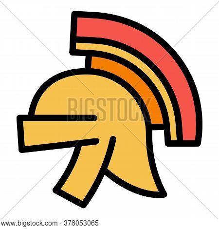 Greek Helmet Icon. Outline Greek Helmet Vector Icon For Web Design Isolated On White Background