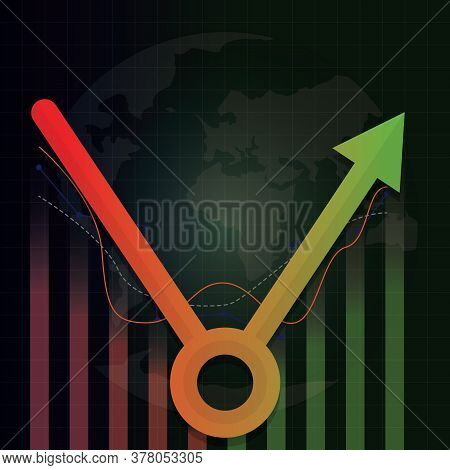 Economic Recovery Type After Covid-19 Crisis. Post Coronavirus Pandemic Concept. Economy Business In