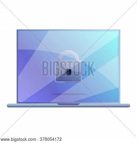 Secured Personal Laptop Icon. Cartoon Of Secured Personal Laptop Vector Icon For Web Design Isolated