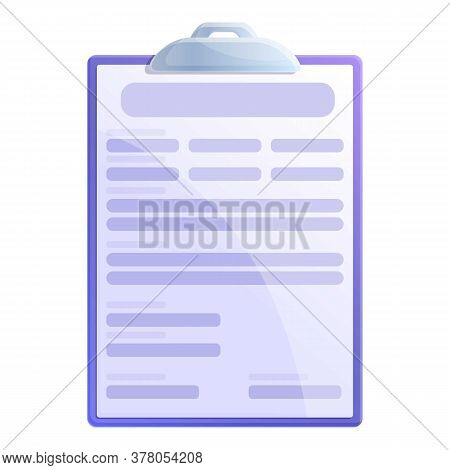 Personal Data Clipboard Icon. Cartoon Of Personal Data Clipboard Vector Icon For Web Design Isolated