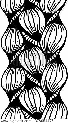 Zentangle Weave One Color For Drawing An Endless Pattern On A White Background