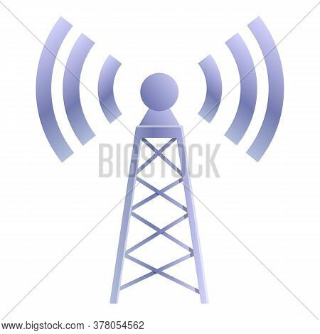 Remote Access Tower Icon. Cartoon Of Remote Access Tower Vector Icon For Web Design Isolated On Whit