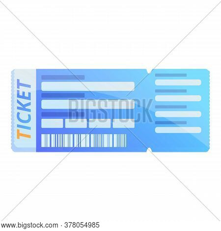 Event Ticket Icon. Cartoon Of Event Ticket Vector Icon For Web Design Isolated On White Background