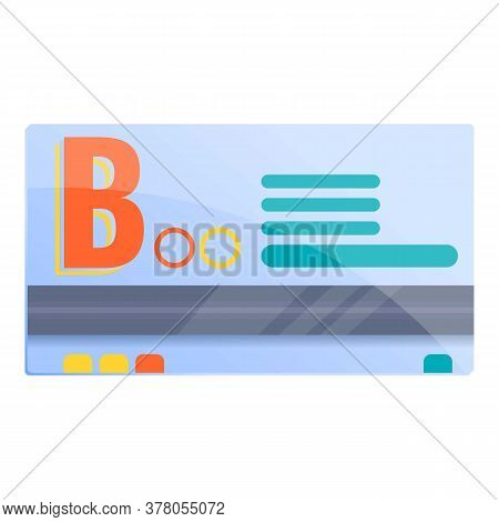 Bus Ticket Delivery Icon. Cartoon Of Bus Ticket Delivery Vector Icon For Web Design Isolated On Whit