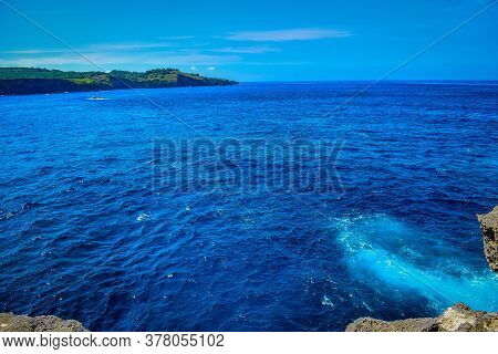 Beautiful Klingking Beach And Rocks On The Island Of Nusa Penida Near The Island Of Bali In Indonesi