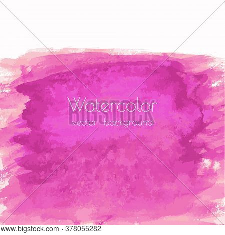 Magenta, Pink, Rose Marble Watercolor Vector Texture Background With Dry Brush Stains, Strokes, Spot