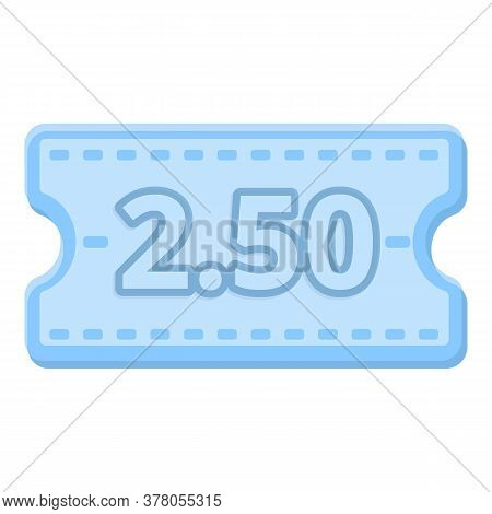 Stamp Bus Ticket Icon. Cartoon Of Stamp Bus Ticket Vector Icon For Web Design Isolated On White Back
