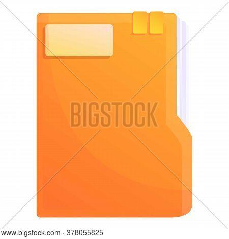 Storage Documents Paper Folder Icon. Cartoon Of Storage Documents Paper Folder Vector Icon For Web D
