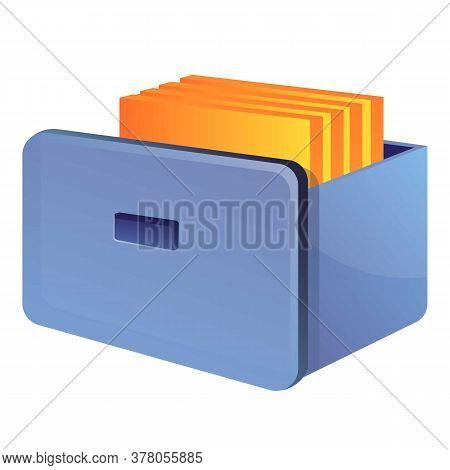 Storage Documents Drawer Icon. Cartoon Of Storage Documents Drawer Vector Icon For Web Design Isolat