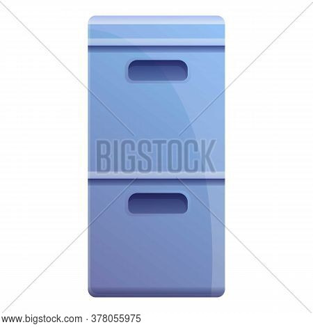 Storage Documents Box Icon. Cartoon Of Storage Documents Box Vector Icon For Web Design Isolated On