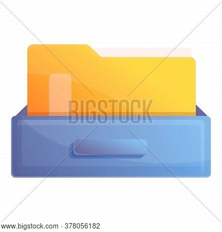 Archive Folder Icon. Cartoon Of Archive Folder Vector Icon For Web Design Isolated On White Backgrou