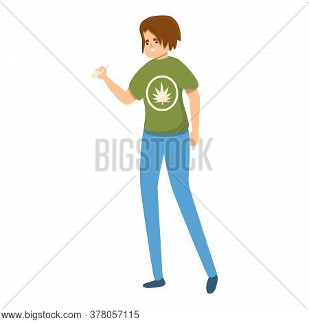 Habit Marijuana Smoking Icon. Cartoon Of Habit Marijuana Smoking Vector Icon For Web Design Isolated
