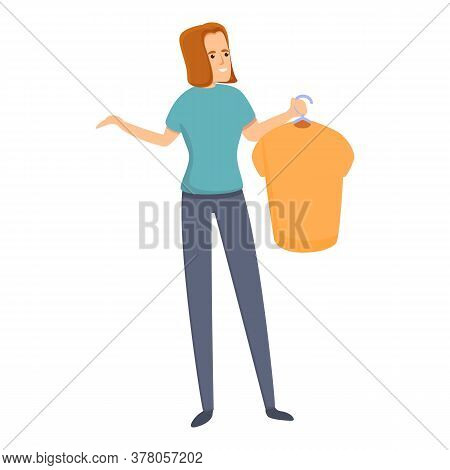 Habit Buy New Shirt Icon. Cartoon Of Habit Buy New Shirt Vector Icon For Web Design Isolated On Whit
