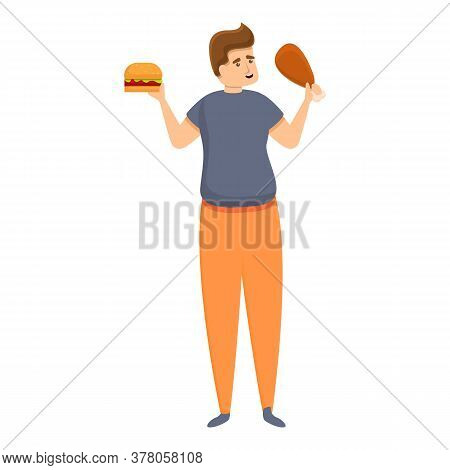 Habit Eating Food Icon. Cartoon Of Habit Eating Food Vector Icon For Web Design Isolated On White Ba