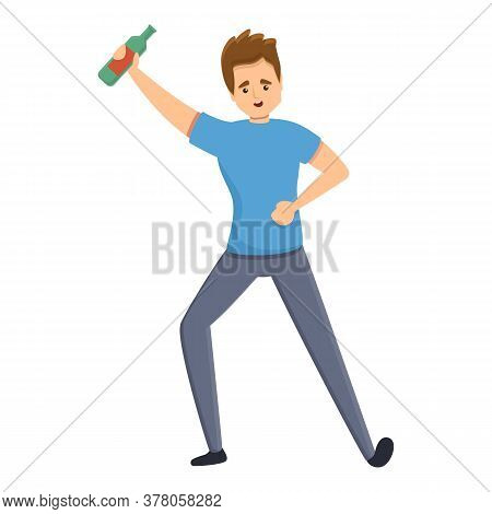 Habit Drink Dancing Icon. Cartoon Of Habit Drink Dancing Vector Icon For Web Design Isolated On Whit