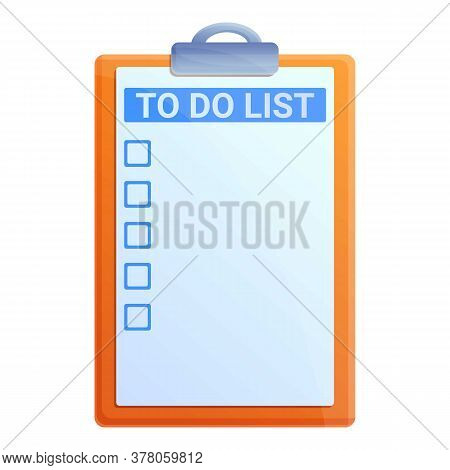 Pin To Do List Icon. Cartoon Of Pin To Do List Vector Icon For Web Design Isolated On White Backgrou