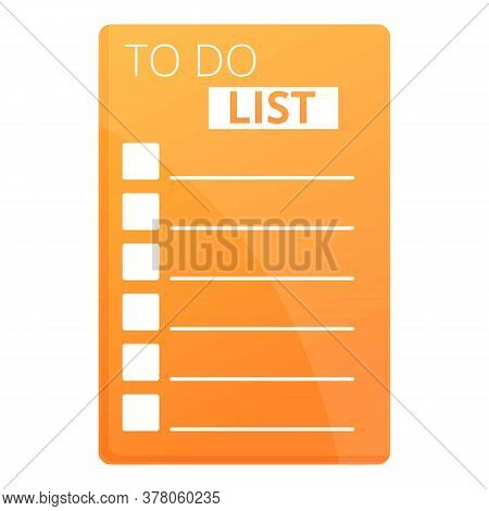 To Do List Reminder Icon. Cartoon Of To Do List Reminder Vector Icon For Web Design Isolated On Whit