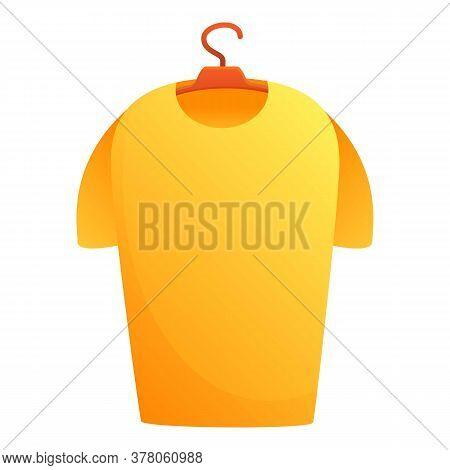Dressing Room Tshirt On Hanger Icon. Cartoon Of Dressing Room Tshirt On Hanger Vector Icon For Web D