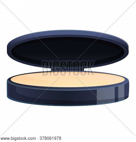 Face Beauty Powder Icon. Cartoon Of Face Beauty Powder Vector Icon For Web Design Isolated On White
