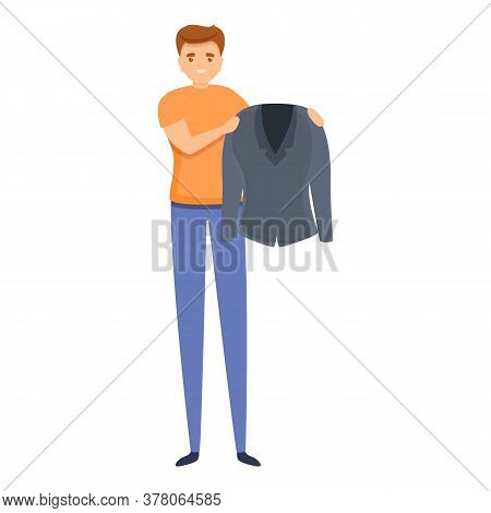 Laundry Worker Icon. Cartoon Of Laundry Worker Vector Icon For Web Design Isolated On White Backgrou