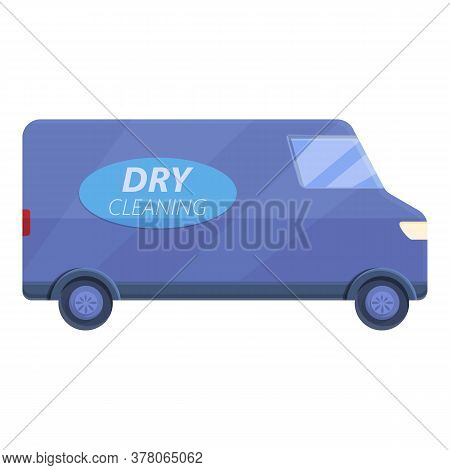 Dry Cleaning Car Icon. Cartoon Of Dry Cleaning Car Vector Icon For Web Design Isolated On White Back