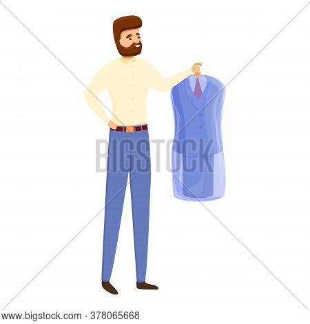 Laundry Suit Icon. Cartoon Of Laundry Suit Vector Icon For Web Design Isolated On White Background