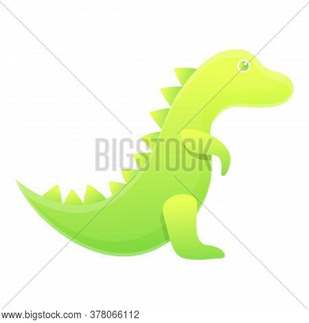Dino Bath Toy Icon. Cartoon Of Dino Bath Toy Vector Icon For Web Design Isolated On White Background