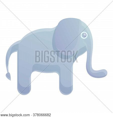 Elephant Bath Toy Icon. Cartoon Of Elephant Bath Toy Vector Icon For Web Design Isolated On White Ba