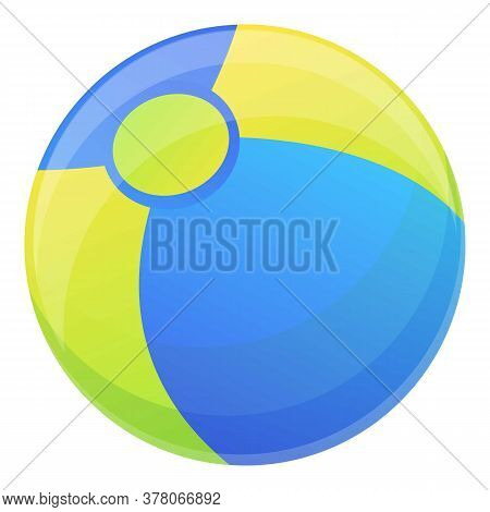 Beach Ball Icon. Cartoon Of Beach Ball Vector Icon For Web Design Isolated On White Background
