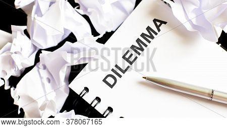Business Dilemma On Notepad, Business Tex Plan B