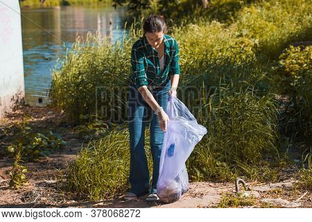 Taking Care Of Our Planet. Garbage Collection And Sorting. Problem Of Garbage In Nature, Plastic And