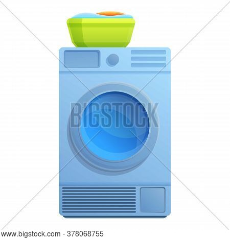 Electric Tumble Dryer Icon. Cartoon Of Electric Tumble Dryer Vector Icon For Web Design Isolated On