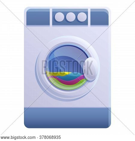 Clothes Care Dryer Icon. Cartoon Of Clothes Care Dryer Vector Icon For Web Design Isolated On White