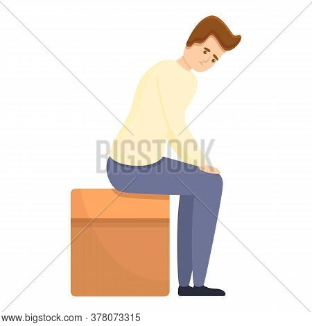 Jobless Man Icon. Cartoon Of Jobless Man Vector Icon For Web Design Isolated On White Background