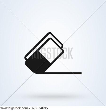 Eraser Rubber. Vector Simple Modern Icon Design Illustration.