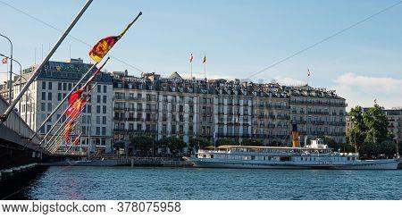 Luxury Stores In Geneva In Switzerland - City Of Geneva, Switzerland - July 8, 2020