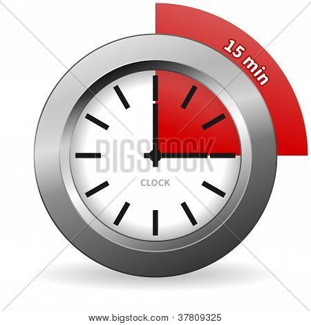 Clock 15 Minutes To Go