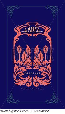 Illustration Label Carving Art Nouveau For Your Businees