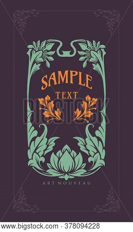 Sample Illustration Ornament Carving Art Nouveau Style Vector For Your Businees