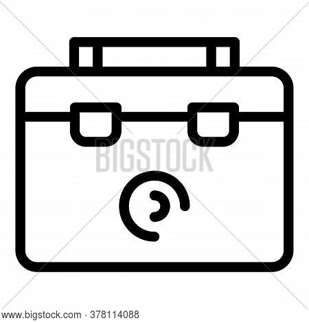 Steel Tool Box Icon. Outline Steel Tool Box Vector Icon For Web Design Isolated On White Background