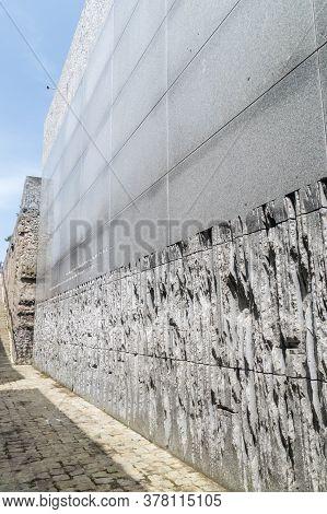 Belzec, Poland - June 12, 2020: The Ohel Of The Belzec Mausoleum Nazi German Extermination Camp.