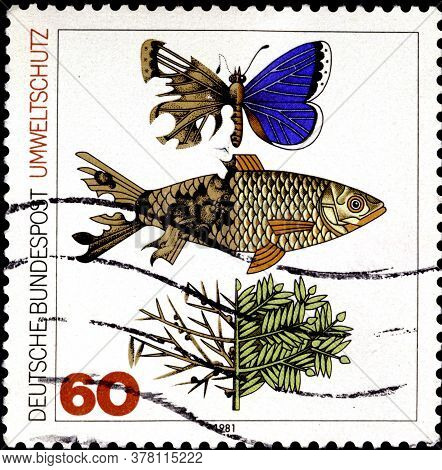 02 09 2020 Divnoe Stavropol Territory Russia The Postage Stamp Germany 1981 Protection Of Environmen