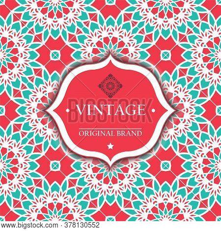 Card. Vintage Decorative Elements. Ornamental Floral Business Cards, Oriental Pattern, Vector Illust
